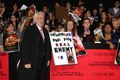 LOS ANGELES - NOV 18:  Donald Sutherland at the The Hunger Games:  Catching Fire Premiere at Nokia T