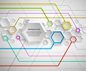 Abstract hexagon colorful background
