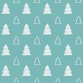 Seamless pattern. Christmas trees.