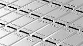 stock photo of palladium  - Palladium ingots background - JPG