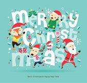 Santa Claus & friends Christmas card