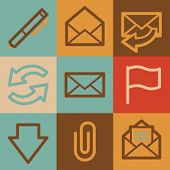 E-mail web icons, vintage series