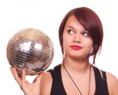 Girl With Discoball poster
