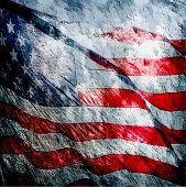 American flag grungy vintage