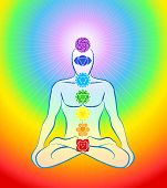 Chakras Icons Rainbow Man