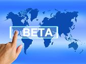 Beta Map Refers To An Internet Trial Or Demo Version