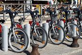 Bicycles for hire, Seville, Spain.