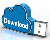 Download Cloud Pen Drive Means Files Downloading Or Transferring