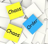 Chaos Order  Notes Show Disorganized Or Ordered