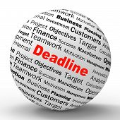 Deadline Sphere Definition Means Job Time Limit Or Finish Date