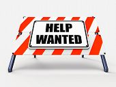 Help Wanted Sign Represents Employment And Wanting Assistance