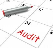 Audit Calendar Shows Inspecting And Verifying Finances
