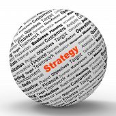 Strategy Sphere Definition Shows Successful Planning Or Manageme