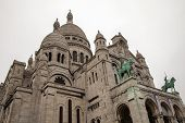 Paris, France. Architectural detail of the Sacre Coeur in Montmartre hill