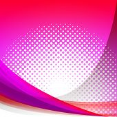 Dotted Pink Wave Background Shows Girly Gradation Wallpaper Or D