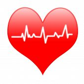 Electro On Heart Means Passionate Heartbeat Or Loving Beat