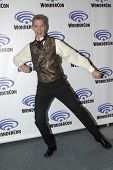 APRIL 19-ANAHEIM, CA:  Doug Jones arrives at the 2014 Annual Wondercon press room for