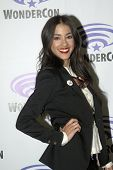 APRIL 19-ANAHEIM, CA:   Seychelle Gabriel arrives at the 2014 Annual Wondercon press room for