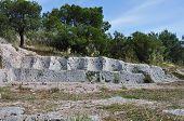 stock photo of throne  - Eptathronon seven thrones plateau ancient greek ruins on philopappos hill - JPG
