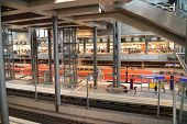 Inside Berlin Central Station