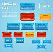 Organizational chart 3d concept