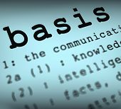 Basis Definition Means Principles And Essential Ideas