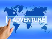 Adventure Map Represents International Or Worldwide Adventure An