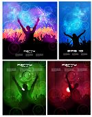 Big set of concert poster. Vector illustration