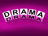 Drama Blocks Indicate Dramatic Theater Or Emotional Feelings