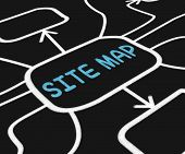 Site Map Diagram Means Navigating Around Website