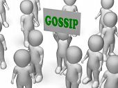 Gossip Board Character Shows Secrets And Rumours
