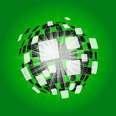Modern Disco Ball Background Shows Digital Art Or Shining Ball