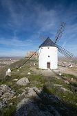 traditional windmill in Consuegra, Toledo, Castilla La Mancha, spain