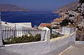 Overview Of Symi Island And Village In Greece