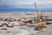 Tangier, Morocco - March 28, 2014: New Terminals Area Under Construction In Port Tanger-med 2. The T