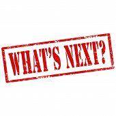 What's Next?-stamp
