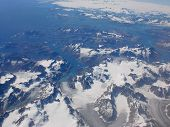 Greenland seen from a plane