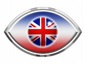 Eye Icon With Union Jack Flag Effect