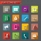 Financial and business flat icons