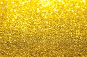 image of gold glitter  - Gold Glitter with selective focus near 2 - JPG