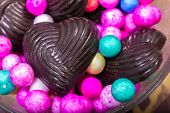 Home Made Chocolates With Decorated Small Balls