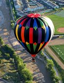 Aerial Rural Hot Air Ballooning Ride