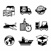 Logistic Icons Black & White