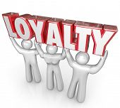 Loyalty Word Team Lifting Workers Customers Faithful Dependable
