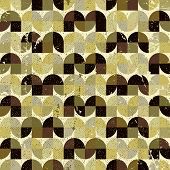 Ornamental worn textile geometric seamless pattern, abstract background.