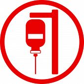 Blood transfusion conceptual icon isolated. Healthcare and medicine.
