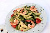 Shrimp Salad With Vegetables