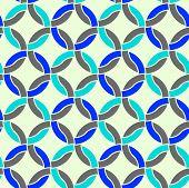 Circles seamless pattern, colorful regular geometric background.