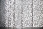 picture of lace-curtain  - Close - JPG