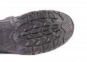 Black rubber shoe sole.